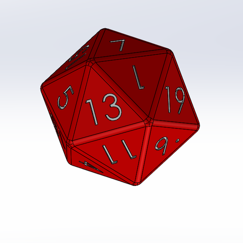 Free STL file 20-sided dice, Thierryc44