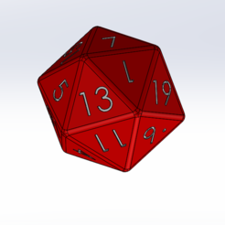 Download free 3D printer designs 20-sided dice, Thierryc44