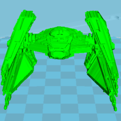 Download free 3D printer templates starship wars, manchot