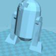 Descargar diseños 3D gratis Guerras estelares R2D2, manchot
