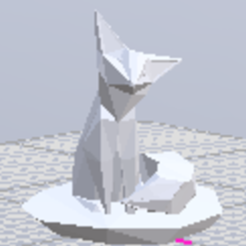 Free 3d printer designs animal fox, manchot