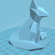 Free 3D printer designs animal fox, manchot