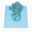 3D printer files Divine with rose, jankitokarczew