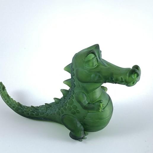 SLA2.jpg Télécharger fichier OBJ gratuit Crocodile heureux • Plan imprimable en 3D, BlackSpire