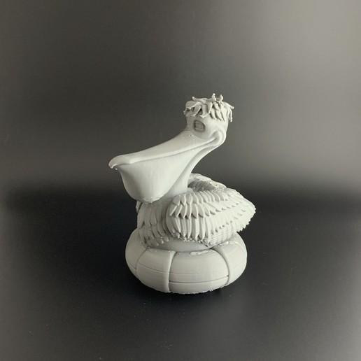 Pelican_01.jpg Download free OBJ file Cartoon Pelican • 3D printable object, BlackSpire