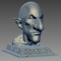 Download free STL files Goblin figure, Cyrilabyss