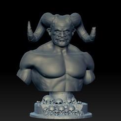 Descargar STL gratis Busto de Demonio, Cyrilabyss