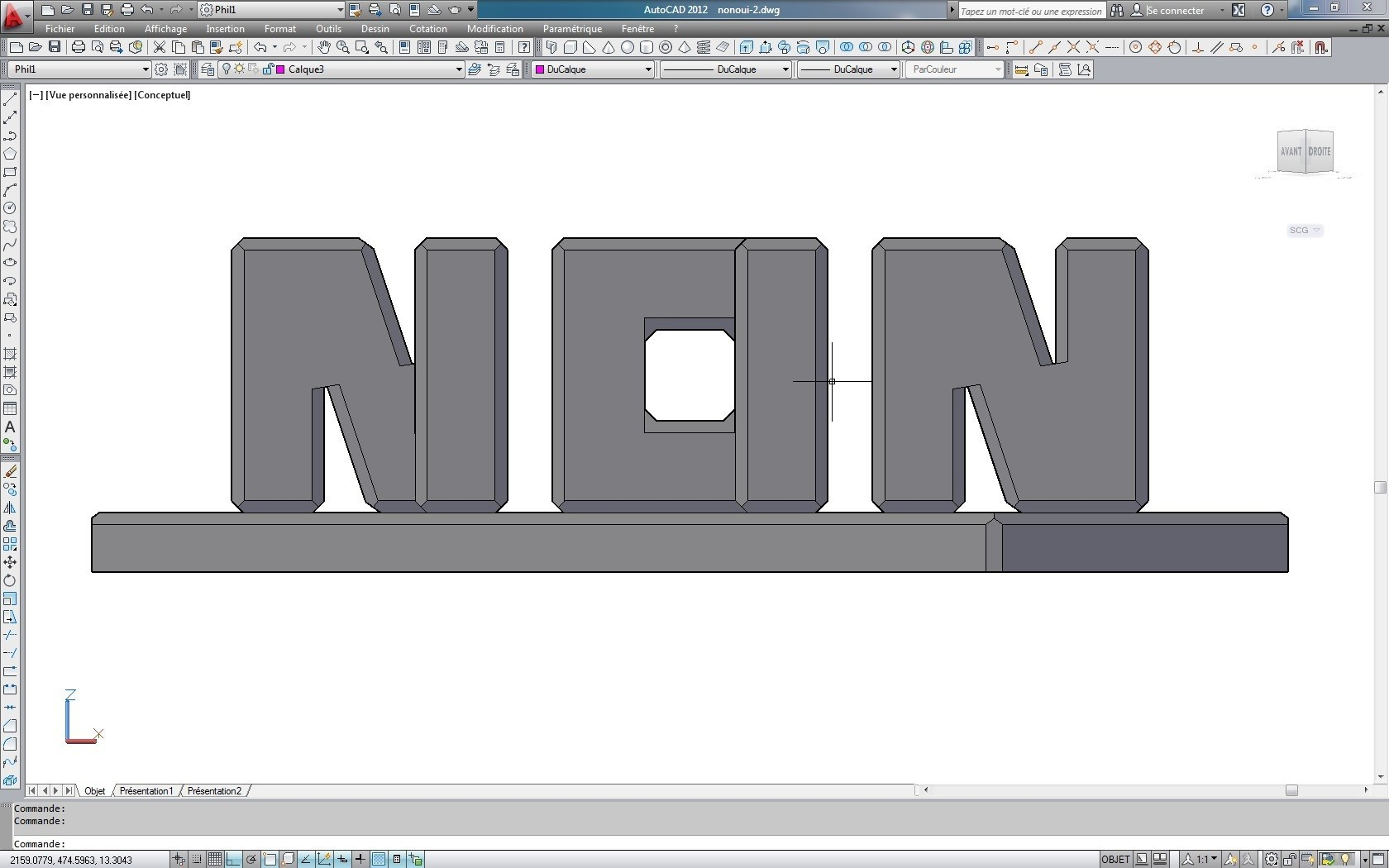non.jpg Download free STL file NoYes • Template to 3D print, fils