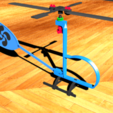 3d printer designs rubber powered helicopter, Destino