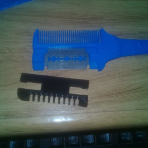 20201018_075739.jpg Download STL file Razor comb, hairdresser • 3D printer template, Destino