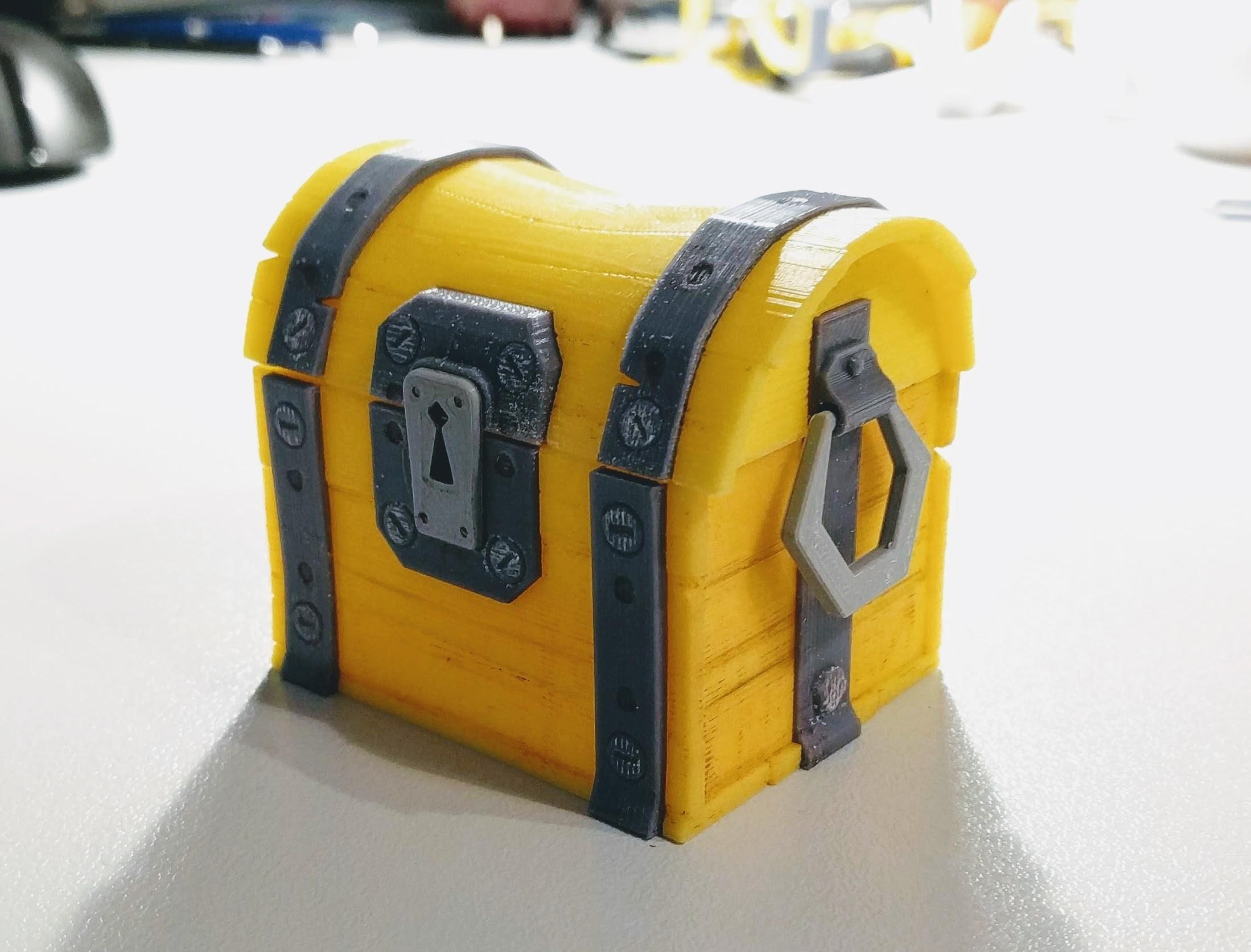 IMG_20180810_212724.jpg Download free STL file Fortnite Chest  • 3D print template, blecheimer