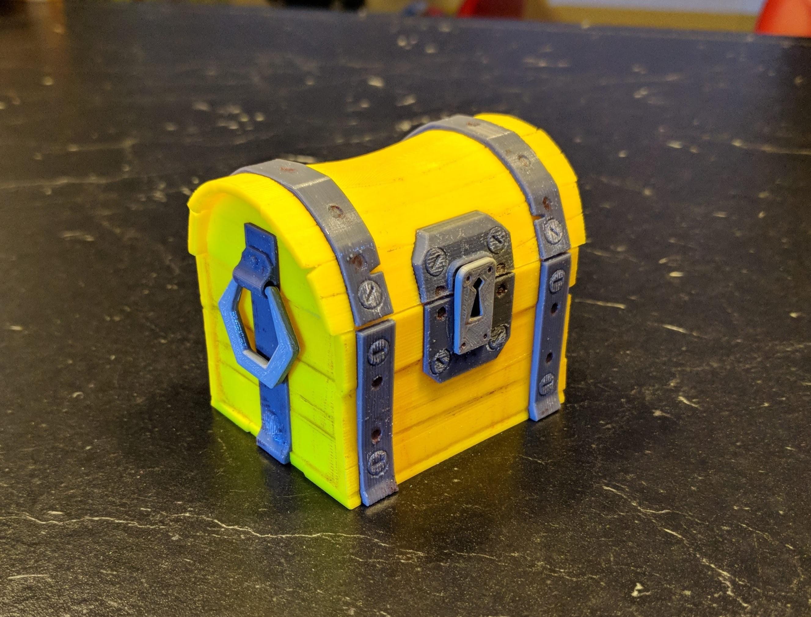 IMG_20180810_222146.jpg Download free STL file Fortnite Chest  • 3D print template, blecheimer