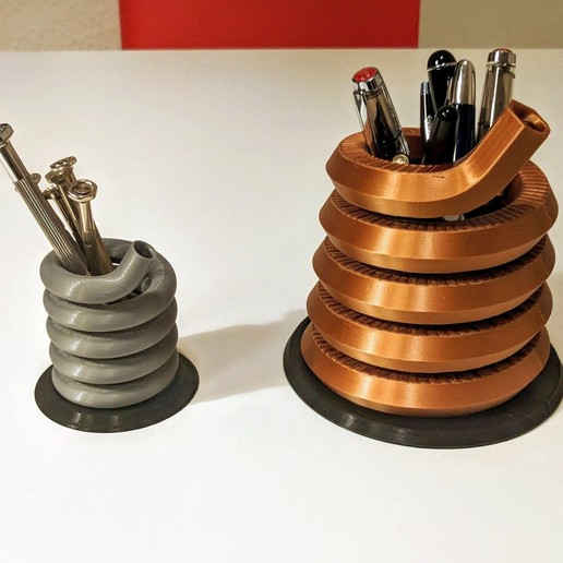 Download free 3D printing templates Pen or Tool Stand / Spring Design , blecheimer