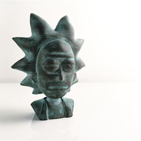 17ce30c58cd22bc82357f5e4c0104dea_preview_featured.jpg Download free STL file Rick Sanchez Bust • 3D printing design, Render