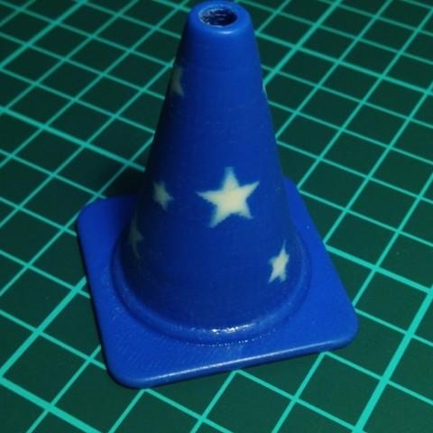 star_cone_preview_featured.jpg Télécharger fichier STL gratuit Collection de cônes de circulation de la mode • Design imprimable en 3D, Render