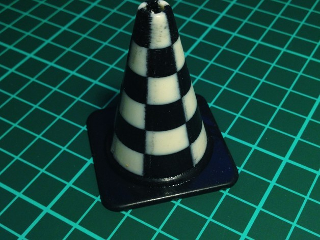 checkers_cone_preview_featured.jpg Download free STL file Fashion Traffic Cones Collection • 3D printer template, Render