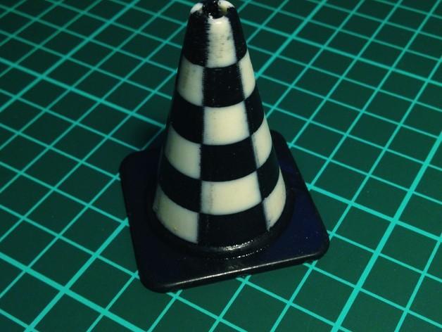checkers_cone_preview_featured.jpg Télécharger fichier STL gratuit Collection de cônes de circulation de la mode • Design imprimable en 3D, Render