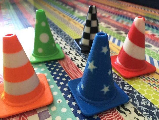 all_cones1_preview_featured.jpg Download free STL file Fashion Traffic Cones Collection • 3D printer template, Render
