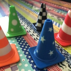 Download free 3D printing designs Fashion Traffic Cones Collection, Render