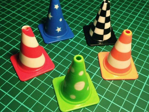 all_cones2_preview_featured.jpg Télécharger fichier STL gratuit Collection de cônes de circulation de la mode • Design imprimable en 3D, Render