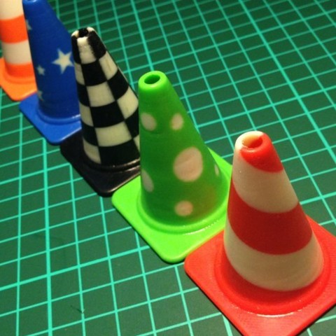 all_cones3_preview_featured.jpg Download free STL file Fashion Traffic Cones Collection • 3D printer template, Render