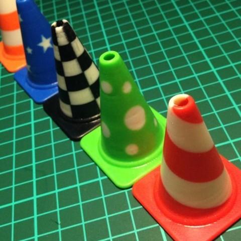 all_cones3_preview_featured.jpg Télécharger fichier STL gratuit Collection de cônes de circulation de la mode • Design imprimable en 3D, Render