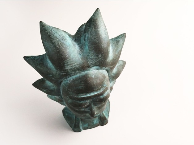 b58bc5a25b1e9b11353da4a0503d8d5a_preview_featured.jpg Download free STL file Rick Sanchez Bust • 3D printing design, Render