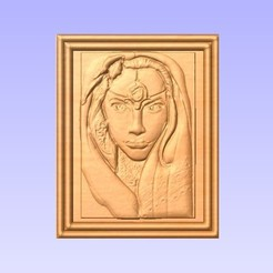 Download free 3D printer templates woman face, marctull297