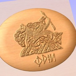 Download free STL files odin wotan odino norse god, marctull297