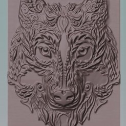 celtic wolf1.jpg Download STL file celtic wolf head • Template to 3D print, marctull297