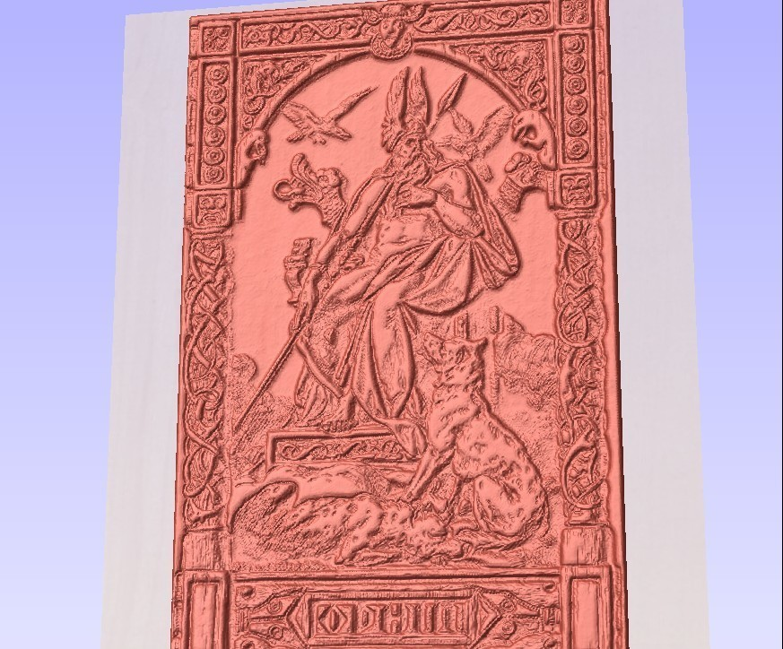 odin.jpg Download free STL file odin wotan odino norse god • Design to 3D print, marctull297
