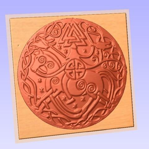 odino 2.jpg Télécharger fichier STL gratuit odin wotan odino odino dieu nordique 2 • Design pour imprimante 3D, marctull297