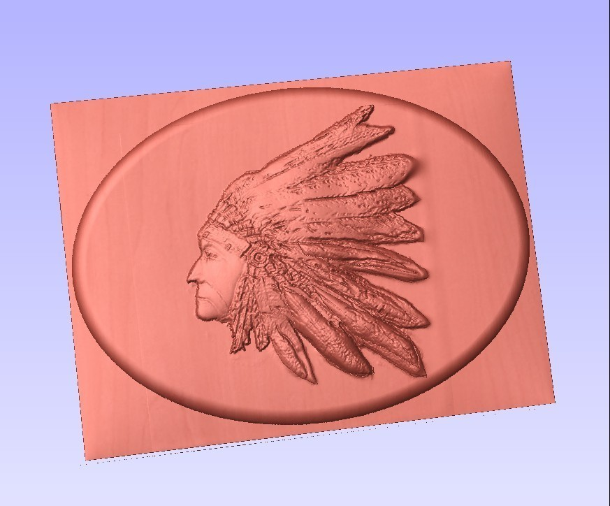 indian.jpg Download STL file indian  lakota siux native americans plaque • Template to 3D print, marctull297