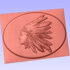 Download 3D printing templates indian  lakota siux native americans plaque, marctull297