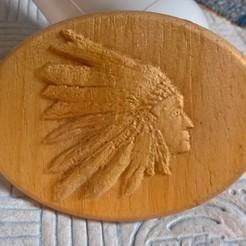 Fichier STL plaque indienne lakota siux native americains plaque, marctull297
