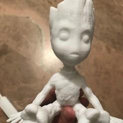 Free stl Baby Groot, joseescobar31190