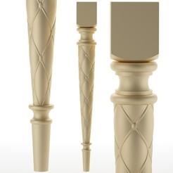 254.jpg Télécharger fichier OBJ pied de table pied de meuble Balustres • Objet pour imprimante 3D, sevysf