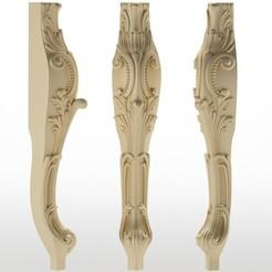 Descargar modelo 3D pata de la mesa pata de los muebles Balaustres, sevysf