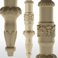 Télécharger objet 3D pied de table pied de meuble Balustres, sevysf