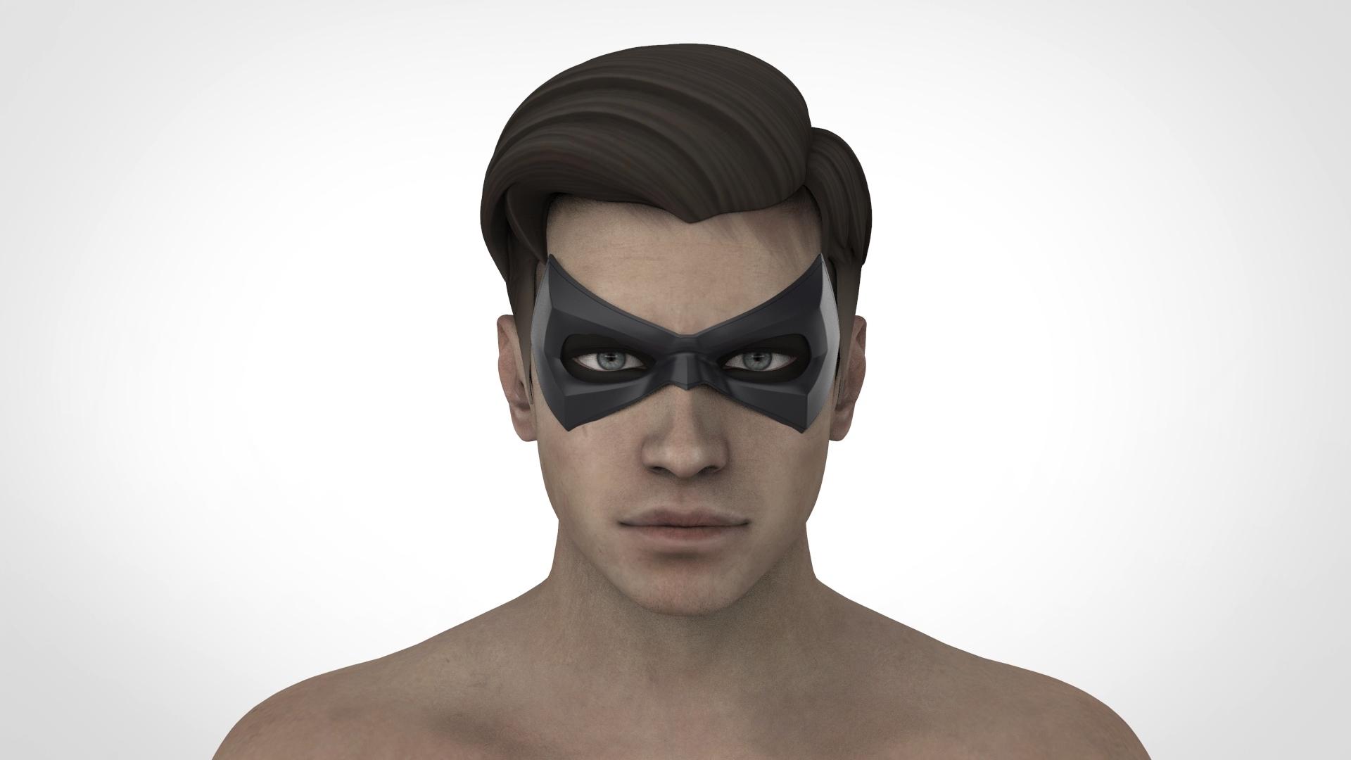 РОБИН.24.jpg Download STL file Robin mask (Arkham city \ Arkham knight) • 3D printing object, Superior_Robin