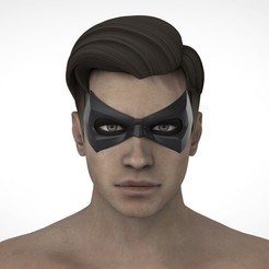 РОБИН.24.jpg Download STL file Robin mask (Arkham city \ Arkham knight) • 3D printing object, Superior_Robin