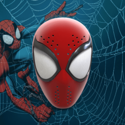 загружено (5).png Download STL file Ultimate Spider-Man Faceshell • 3D printable design, Superior_Robin
