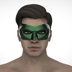 Télécharger fichier imprimante 3D Masque de la lanterne verte, Superior_Robin