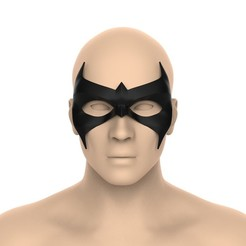 untitled.366.jpg Download STL file Nightwing mask (injustice) • 3D print template, Superior_Robin