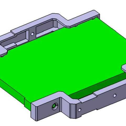 """ADAPTADOR_DISCO_SSD_A_FLOPPY_2.jpg Download STL file 2.5"""" to 3.5"""" SSD adapter • 3D printable template, Angelmax"""