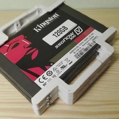 """Diseños 3D Adaptador SSD 2,5"""" a 3,5"""" para 2 discos, Angelmax"""