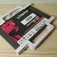 "modelos 3d gratis Adaptador SSD 2,5"" a 3,5"", Angelmax"