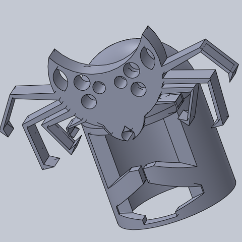 yelmo.png Download free STL file spider armor • Model to 3D print, izanferrco