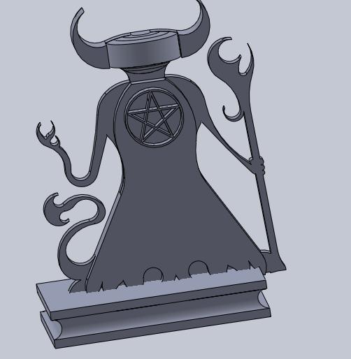 demonio.png Download free STL file mini demon (not base) • 3D print design, izanferrco