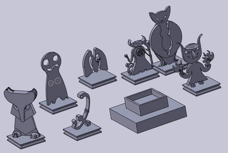 todos.png Download free STL file mini demon (not base) • 3D print design, izanferrco